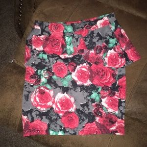 I'm selling a floral pencil skirt.